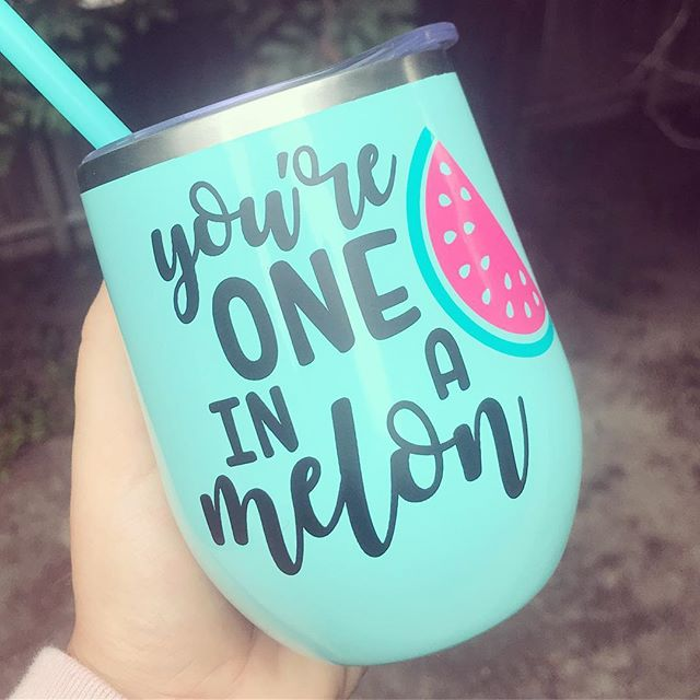 Somedays I'm super productive - and other days I have to stop everything I'm doing to make this for myself 😂🍉 Lot's of fun gifty tumblers coming to my #etsy shop for holiday time!! #sfetsy #etsyshop #etsyseller #etsylove #etsyfinds #etsygifts