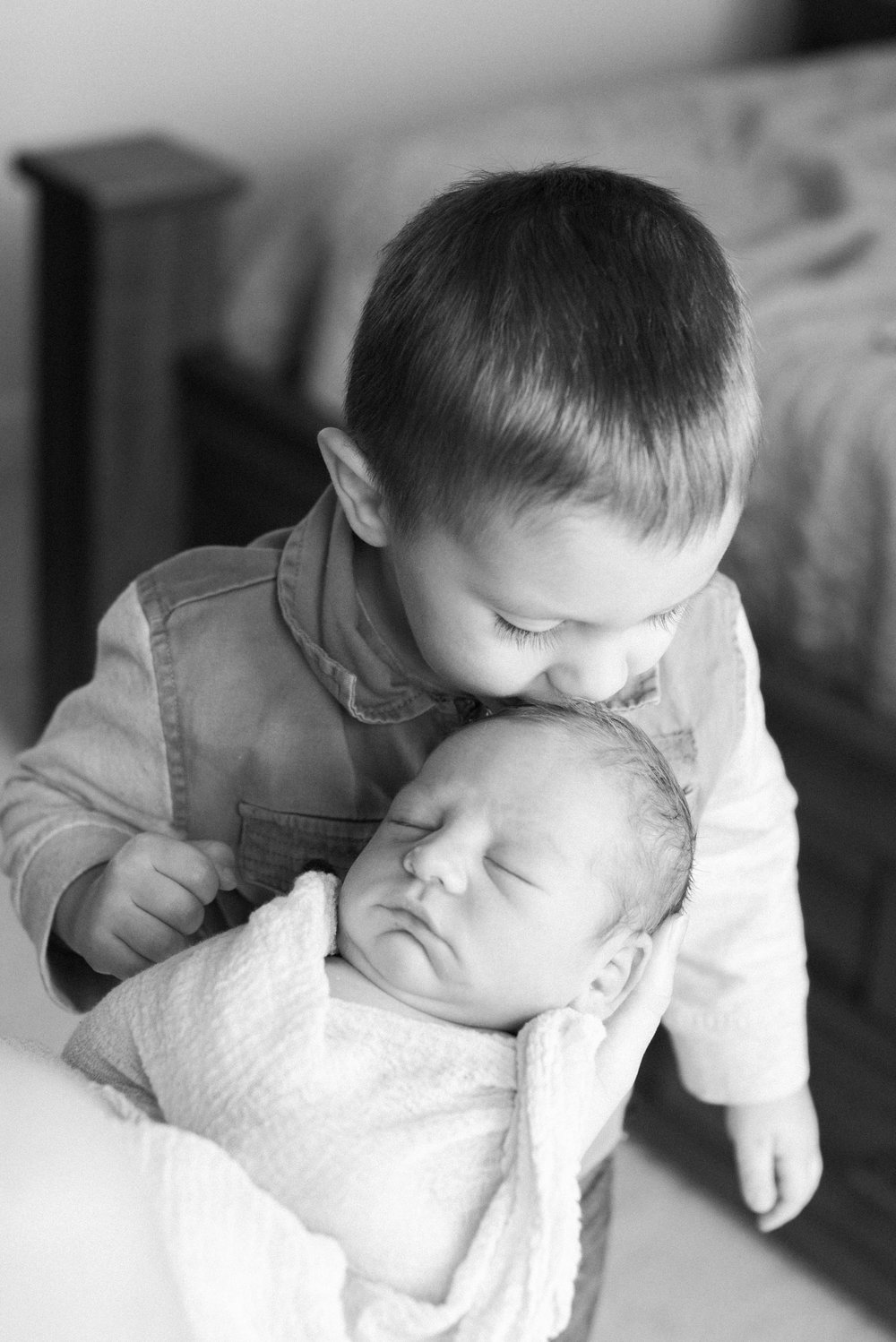 Big brother Ethan loves his little brother and connected with him instantly. This moment captured was tear jerking.