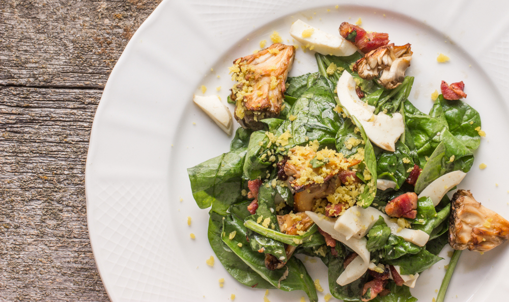Hen of the Woods-Spinach Salad With Bacon Vinaigrette_-4.JPG