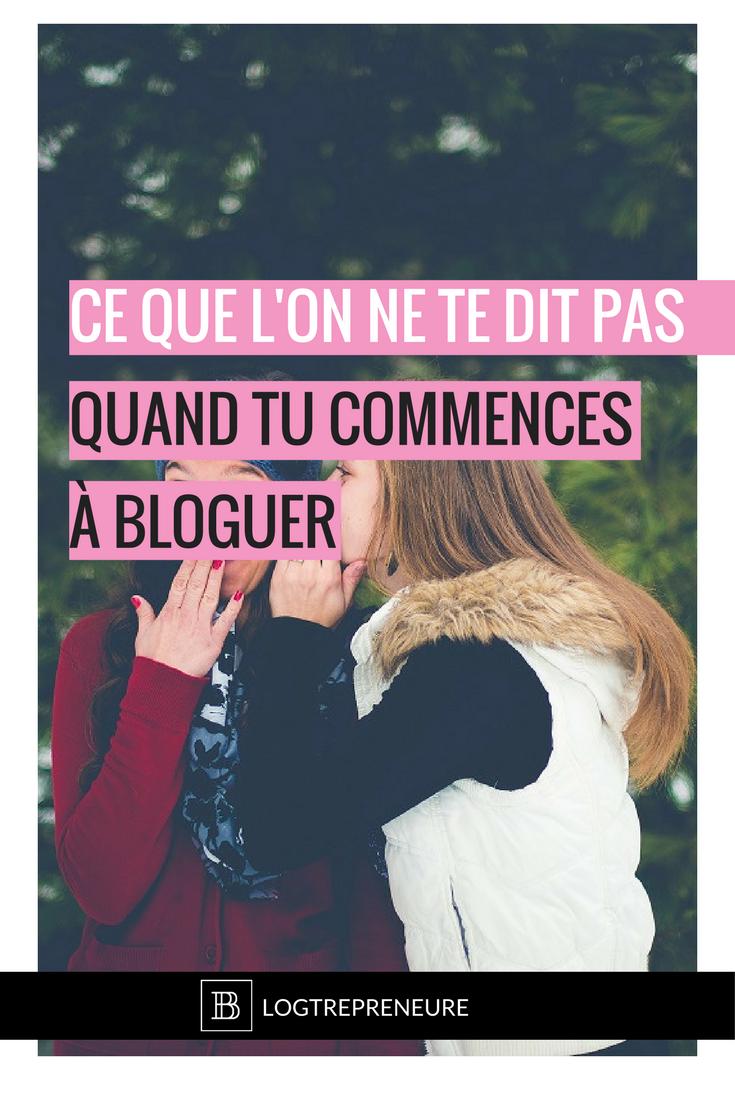 ce que l'on ne te dit pas quand tu commences à bloguer