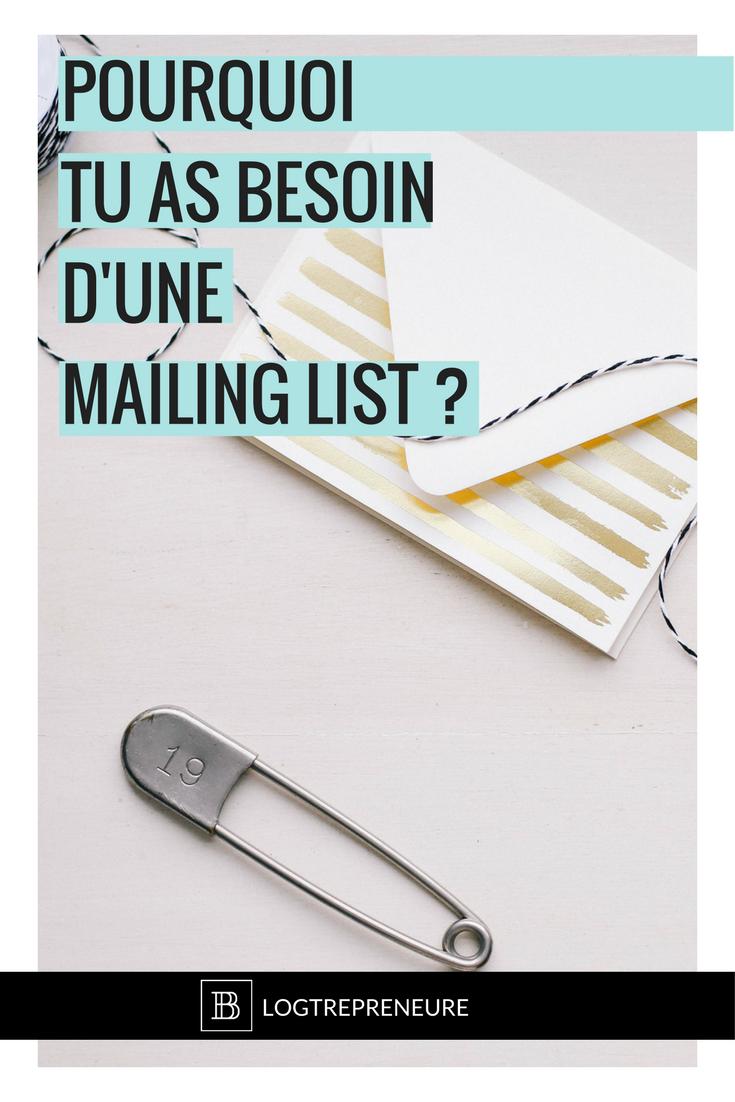 pourquoi tu devrais te bâtir une liste email