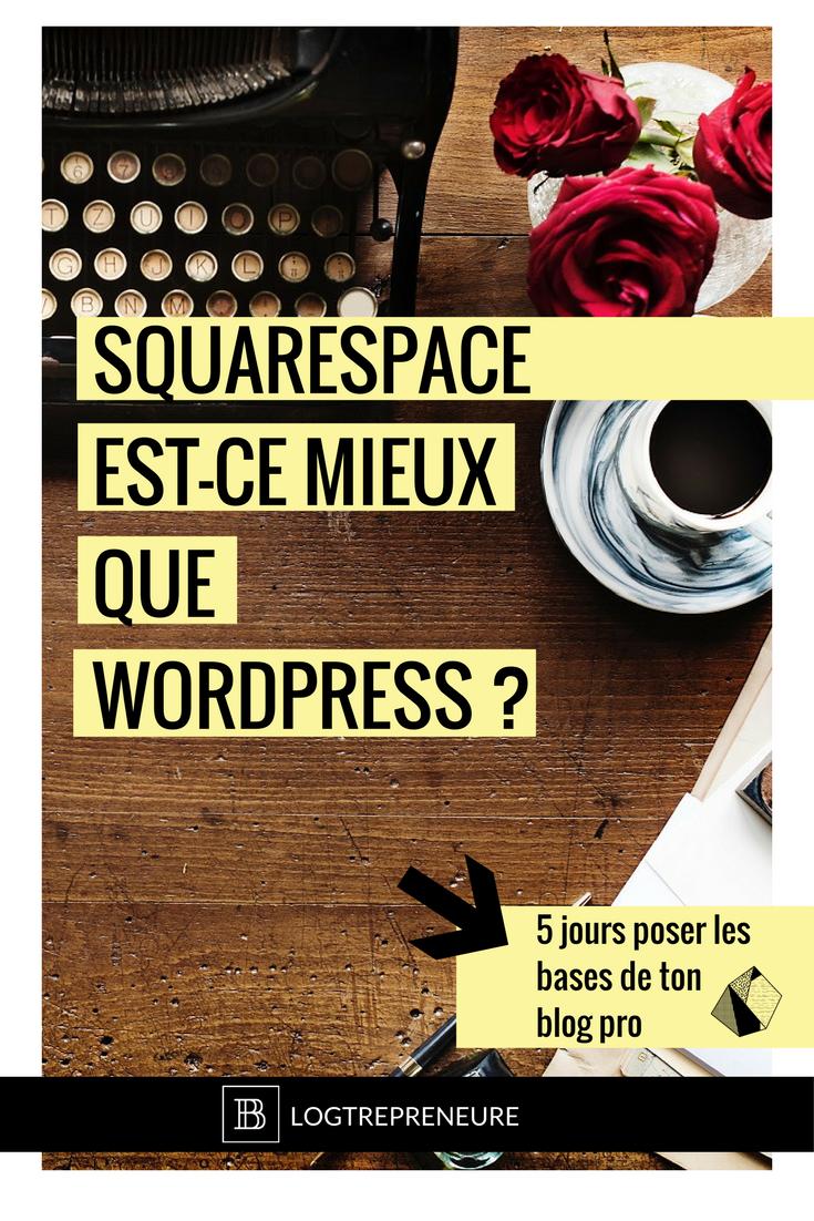 Squarespace est-ce mieux que Wordpress ?