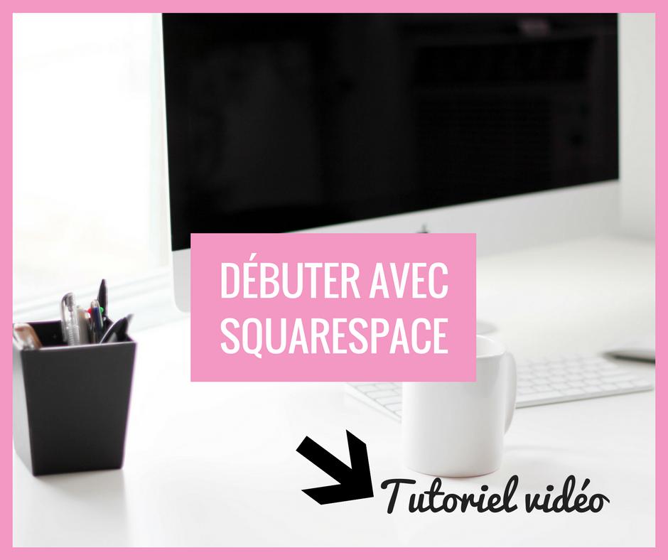 bloguer avec squarespace français