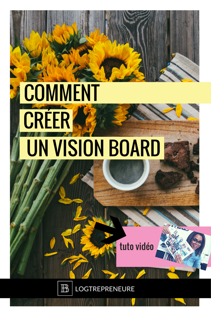 Créer ton vision board simplement pour visualiser tes objectifs, sans papier, ni ciseau ! #visionboard #tableaudevisualisation #entrepreneure #blog #blogging #blogue