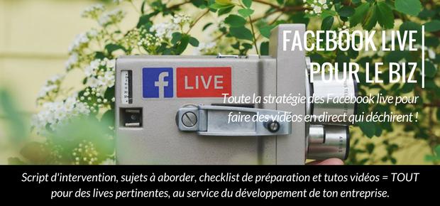 facebook live pour le biz