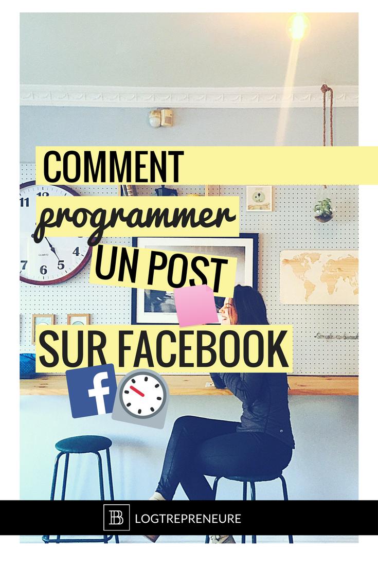 Tutoriel programmer une publication Facebook