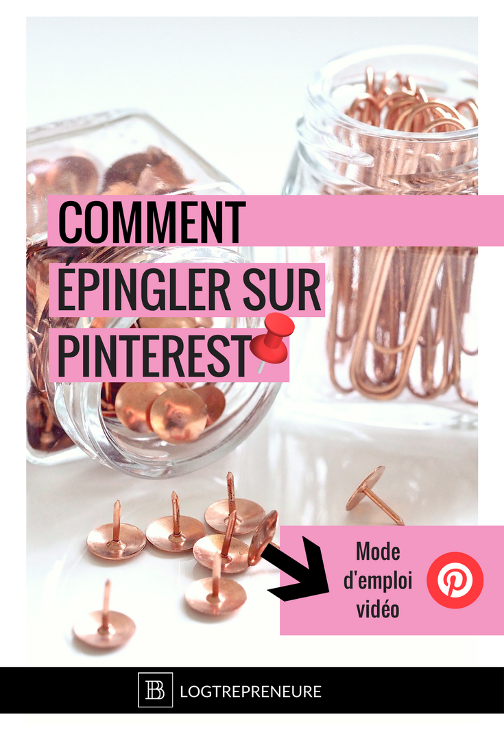 Comment épingler sur pinterest - tutoriel video
