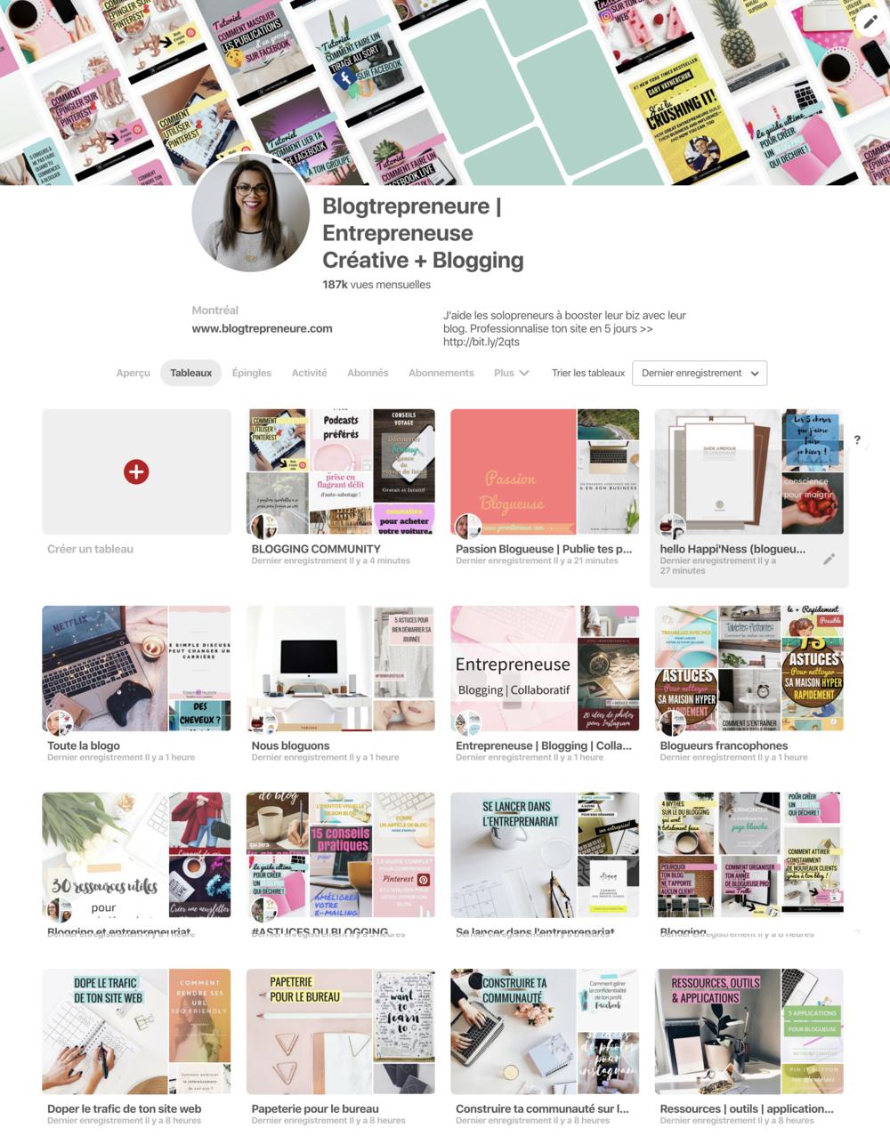 Pinterest compte professionnel nouvelle version 2018