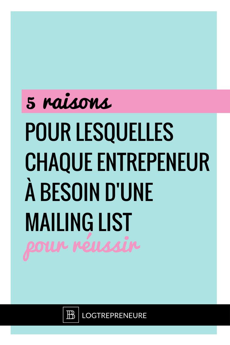 5 raisons d'avoir une mailing list