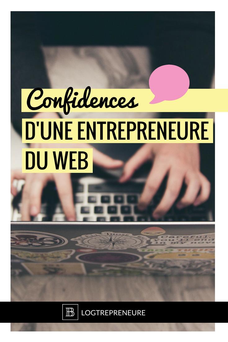 Confidence sur les dessous de la vie d'une entrepreneure en ligne