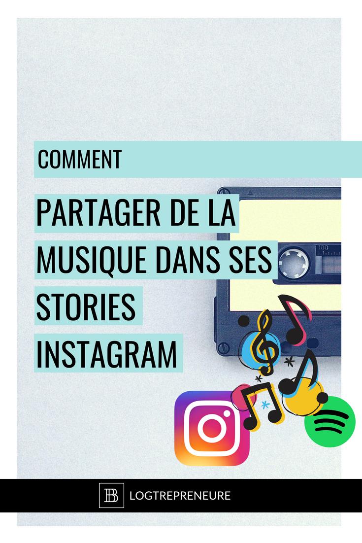 Comment partager de la musique dans ses insta stories