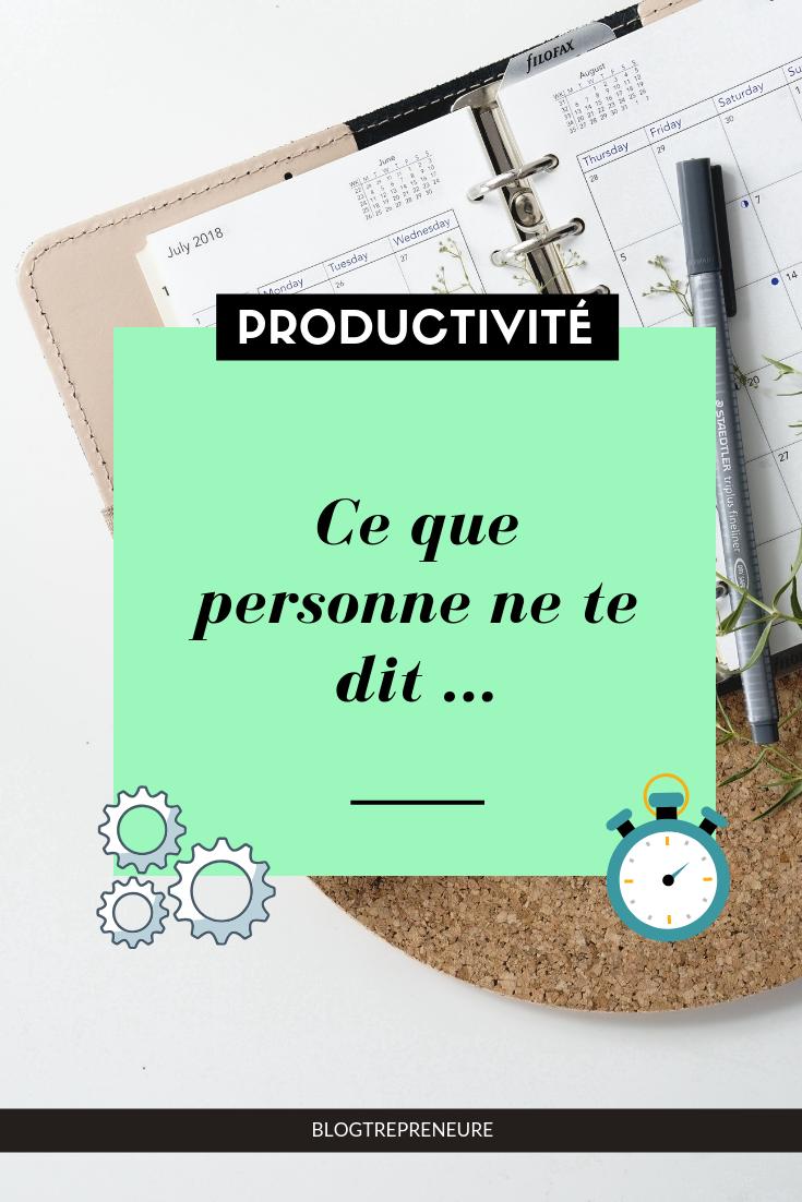 productivité secret