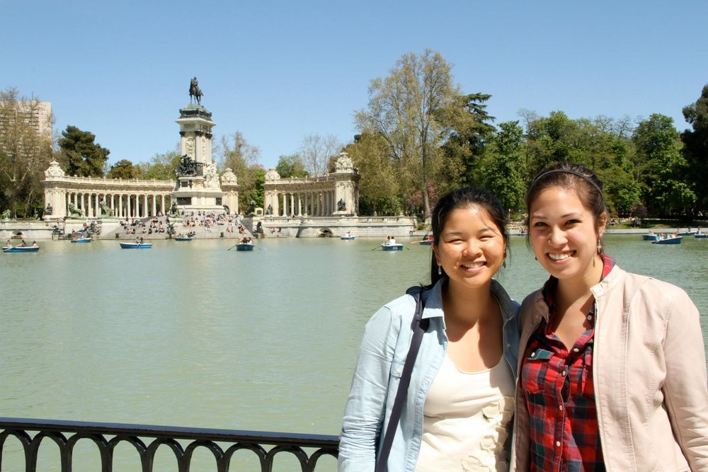 Cindy and I in Parque de Retiro