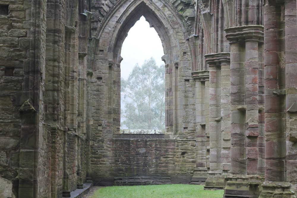 Inside the Welsh Tintern Abbey ruins...