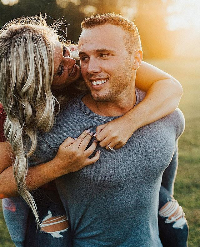 My favorite two parts about this image:  1. How tight she is holding on to his shirt... they will need to cling together their whole life!  2. The way he looks at her with a sweet tenderness...  💏