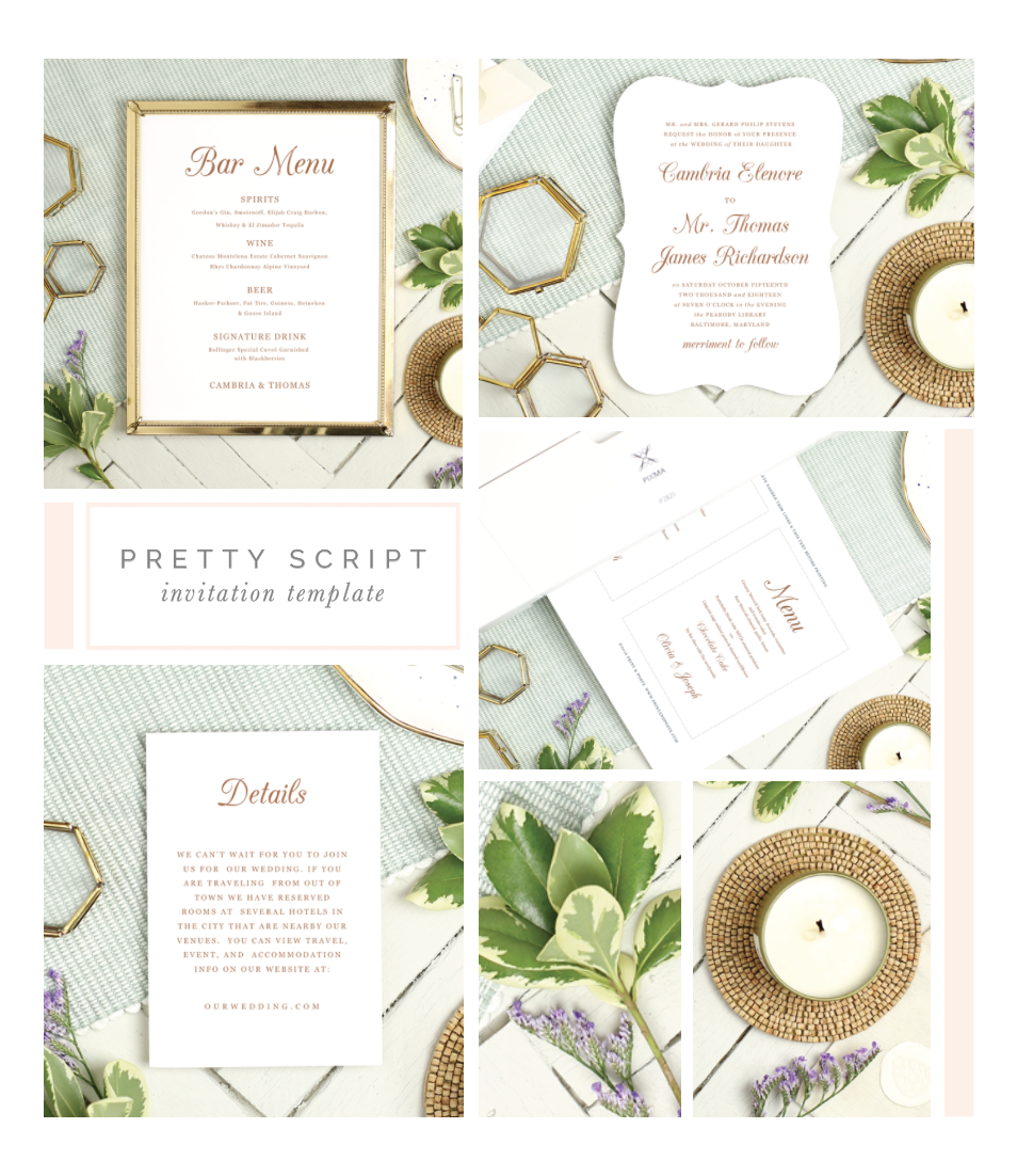 Printable Wedding Suite Templates Everly Paper – Blank Wedding Invitation Card Stock