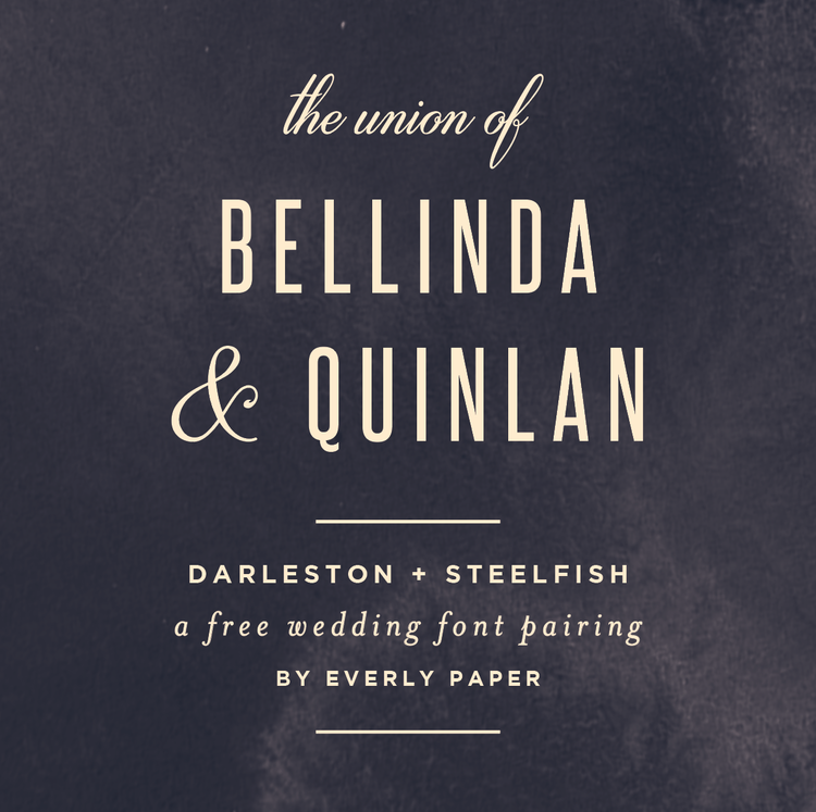 The Best Free Wedding Font Combinations — Everly Paper