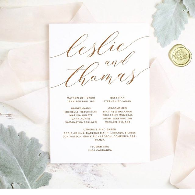 Modern Calligraphy Printable Wedding Suite — Everly Paper