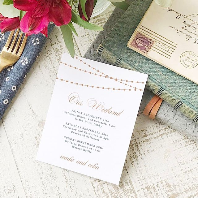 New Everly Compatible templates from @swellandgrand ❤️ Check out their Etsy shop to see their new welcome and agenda cards, compatible with A2 Everly Paper.  #etsywedding #papercraft #weddingideas #weddinginspiration #weddinginspo #diywedding #printables
