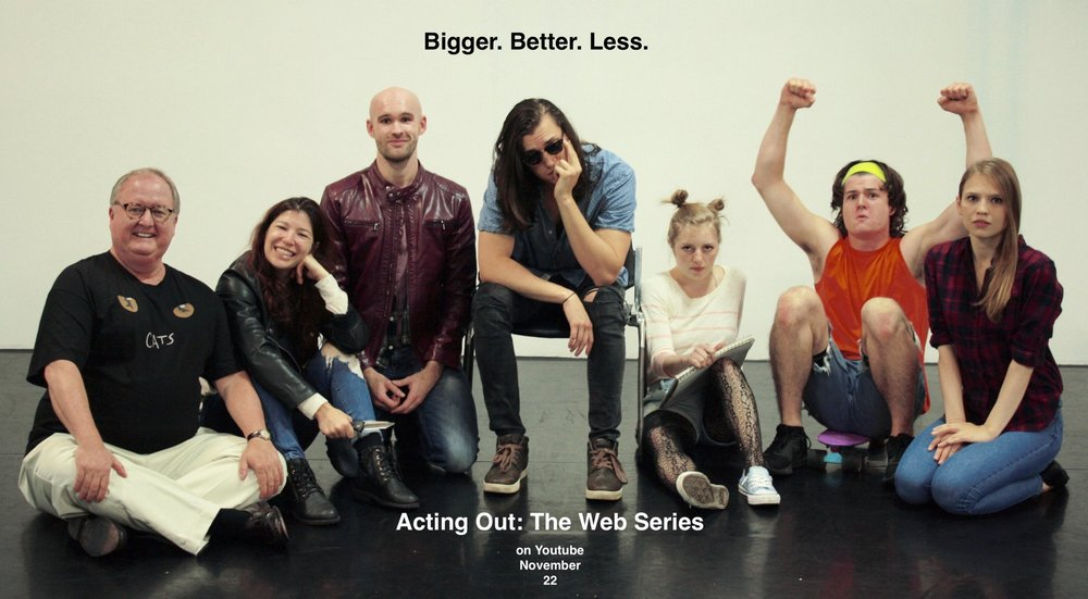 Cast Photo - Actors (from left to right): Kevin Magee (Gerold), Maggie Howell (Sawyer), Cameron A. Tubbs (Sam), Michael David Wilson (ABC), Abby Knipp (Sara), Jonathan Ford (Brody), Avery Cole (Quinn)