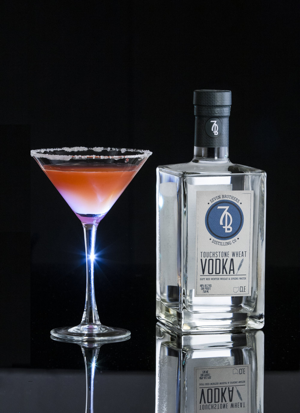 THE ANGRY SISTER - 2 oz Seven Brothers Touchstone Wheat Vodka1 oz Limoncello.5 oz ChambordCombine all ingredients and shake over ice. Strain into a Martini glass with a sugar rim
