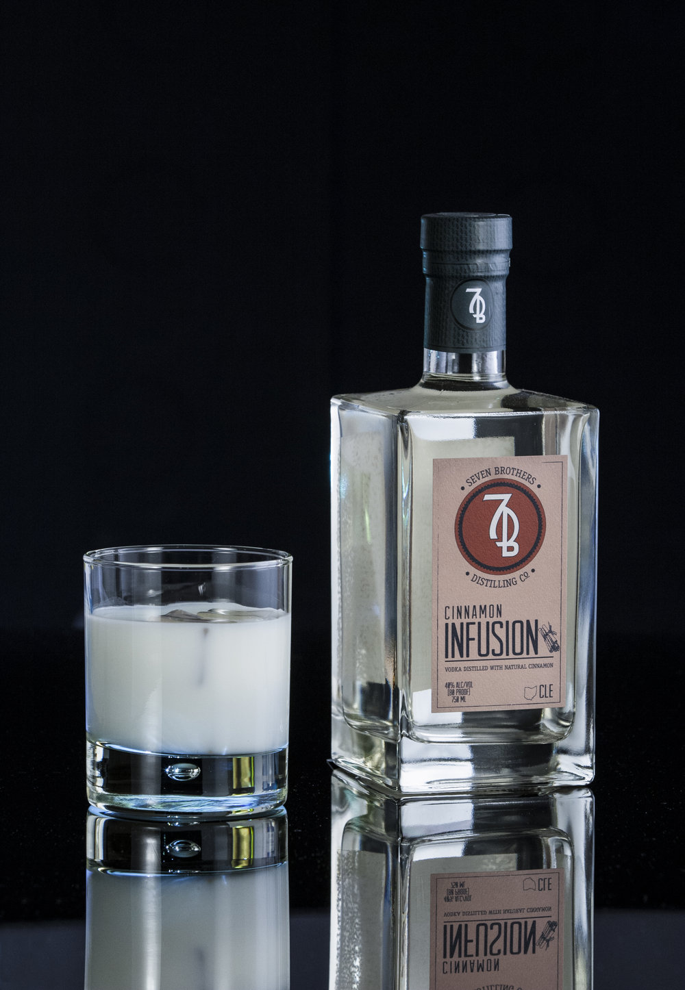 BROTHERS BADGER - 1.5 oz Seven Brothers Cinnamon Infusion.75 oz Heavy Cream.75 oz HoneyShake over ice and strain into a Rocks glass.
