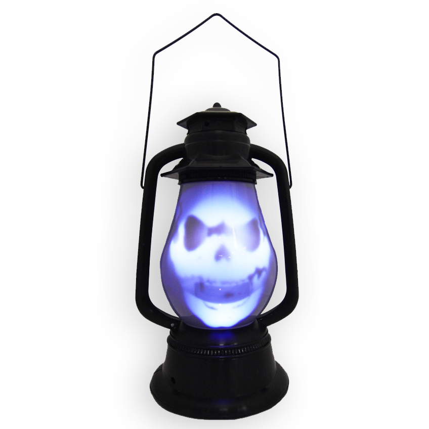 V9328  LANTERN  - Light Up Talking Spooky Skull