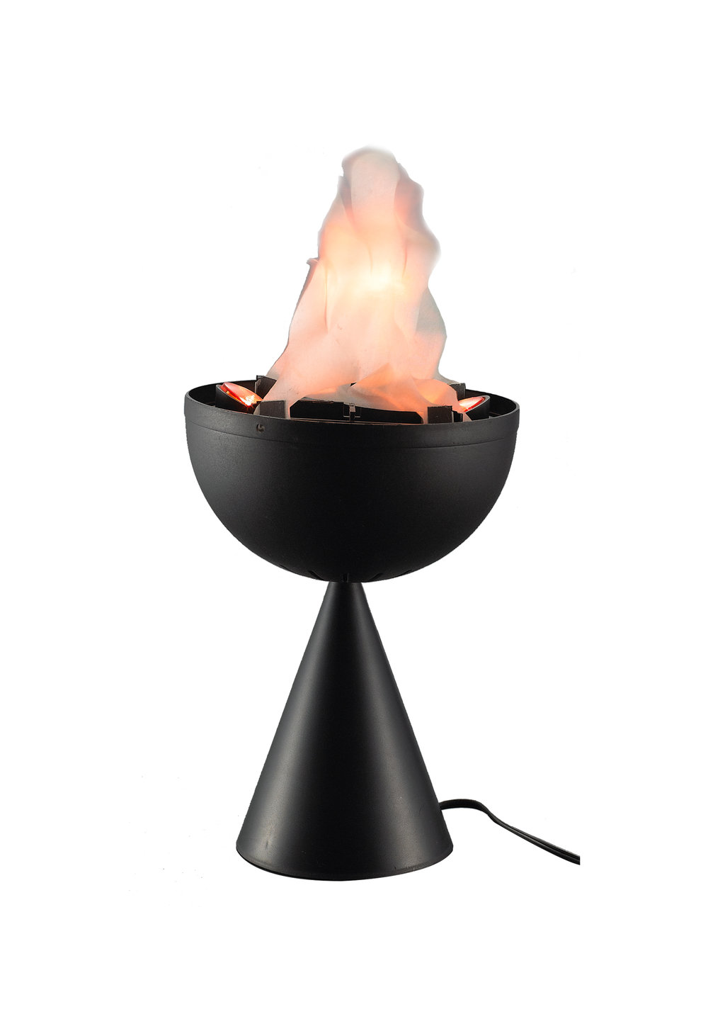 V0105C  MINI TABLETOP FLAME  -Table Top Flame Effect with 2 Bulbs