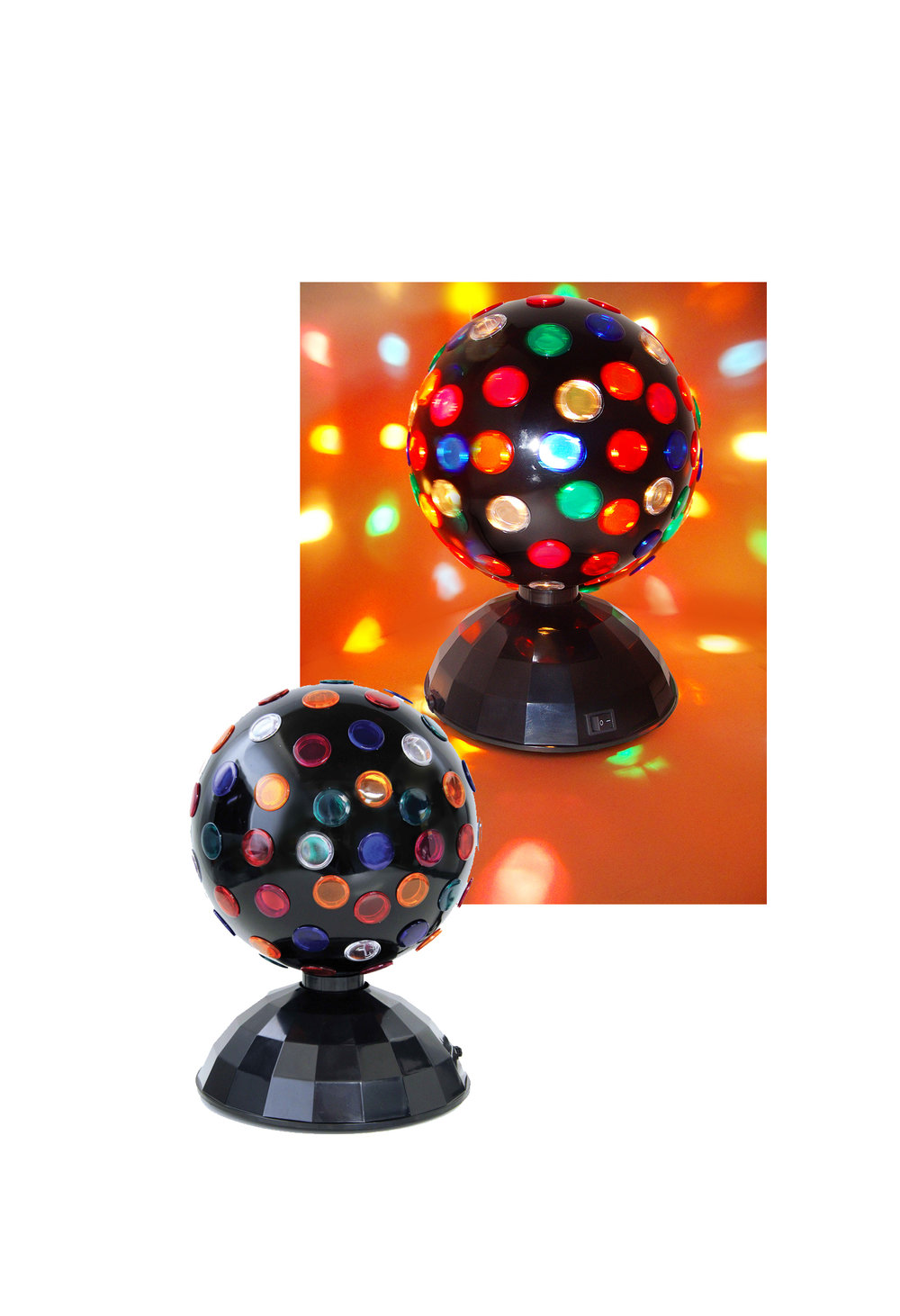 "V0207  GIANT ROTATING DISCO BALL  - Giant Rotating 8"" Disco Ball"