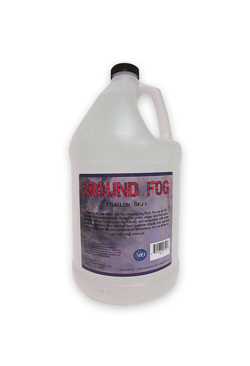 QFJ-1  GROUND FOG FLUID  Gallon  For use with all ground Foggers     -  Made In USA