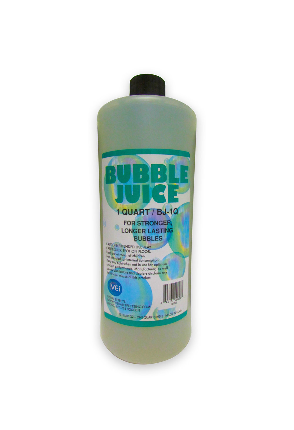 BJ-1Q  BUBBLE JUICE  Quart  For use with all bubble machines. Packaged in quart containers