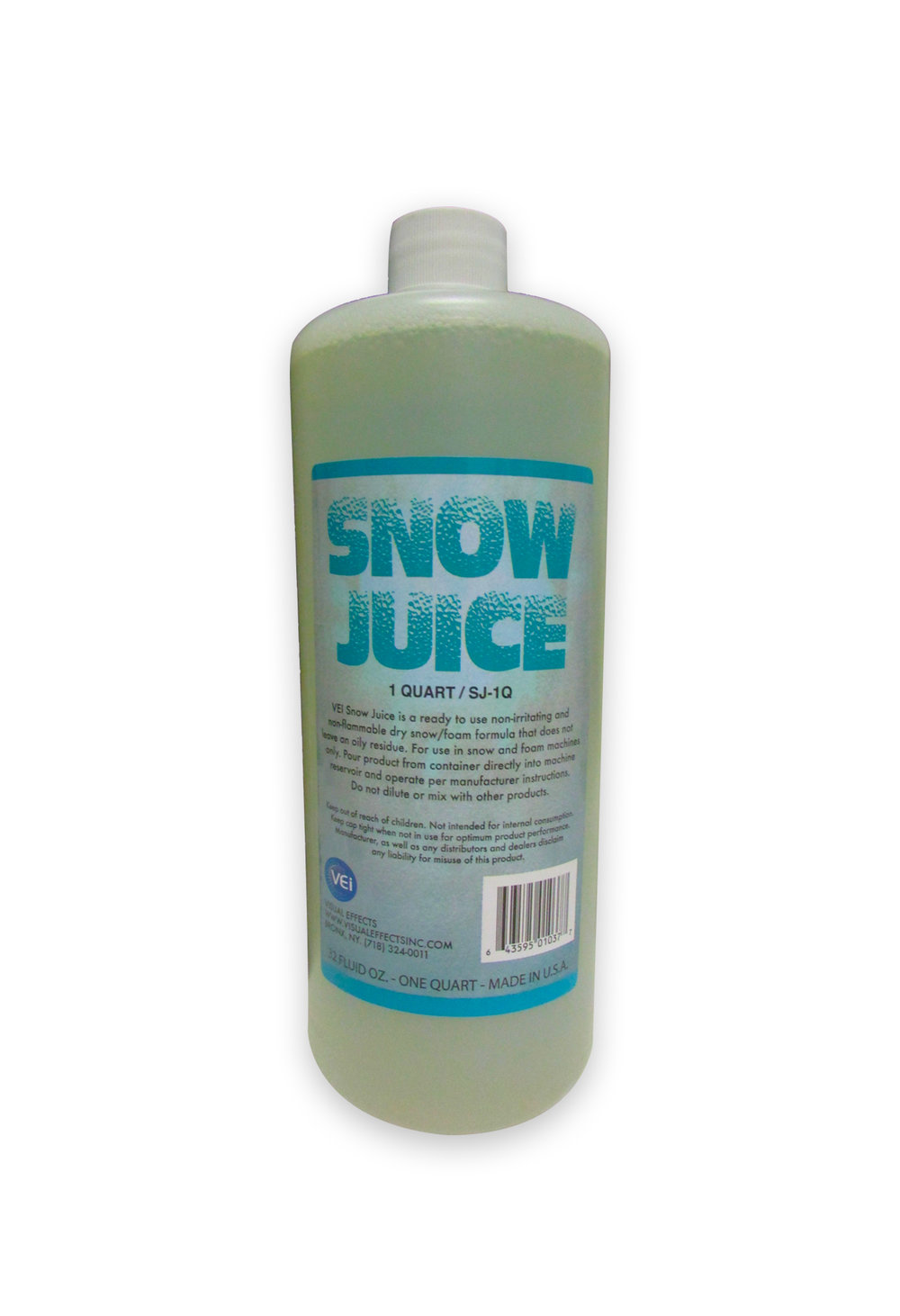 SJ-1Q  SNOW JUICE  Quart  For use with the V-980 Mini Snow Blower Packaged in quart containers.                          -  Made In USA