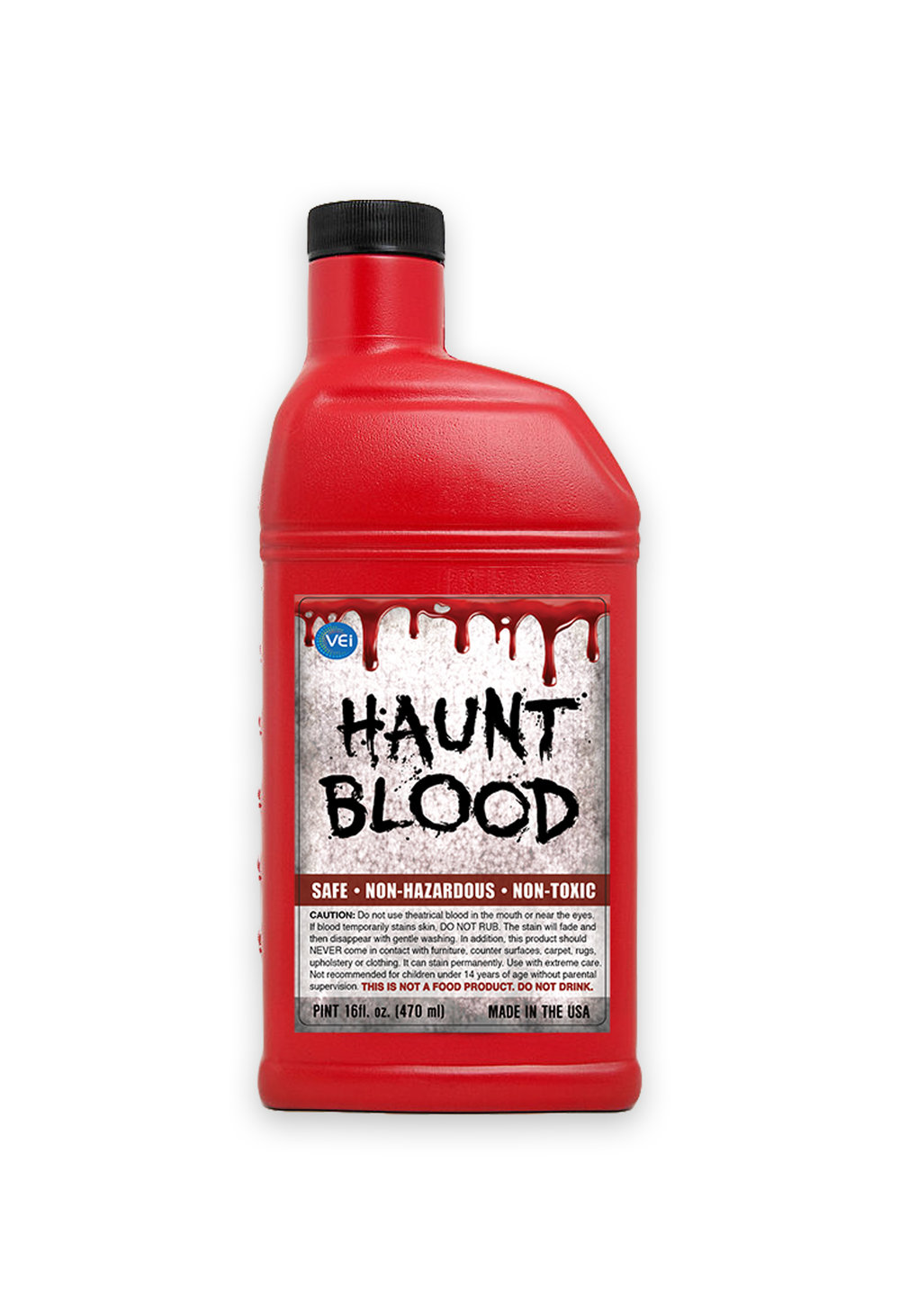 BLR-P  BLOOD  Pint  A Realistic Touch To Your Halloween Costume               -  Made In USA