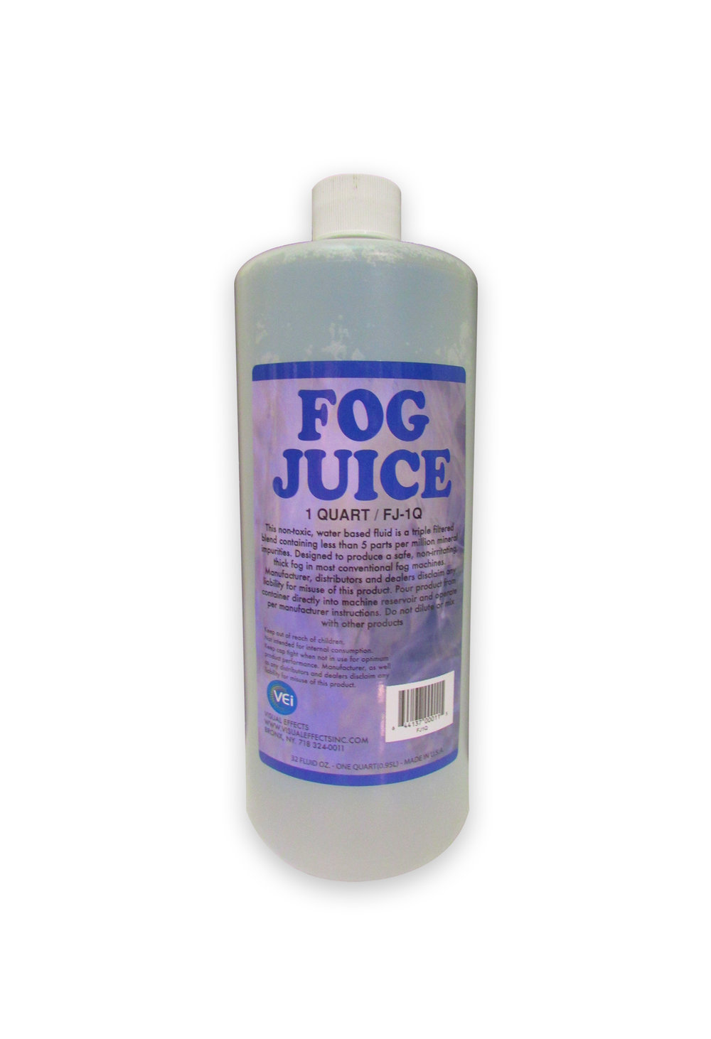 FJ-1Q  FOG FLUID(UNSCENTED)  Quart