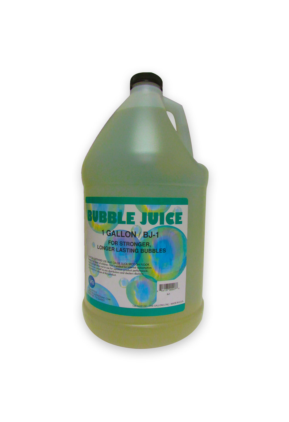 BJ-1  BUBBLE JUICE  Gallon  For use with all bubble machines. Packaged in gallon containers.