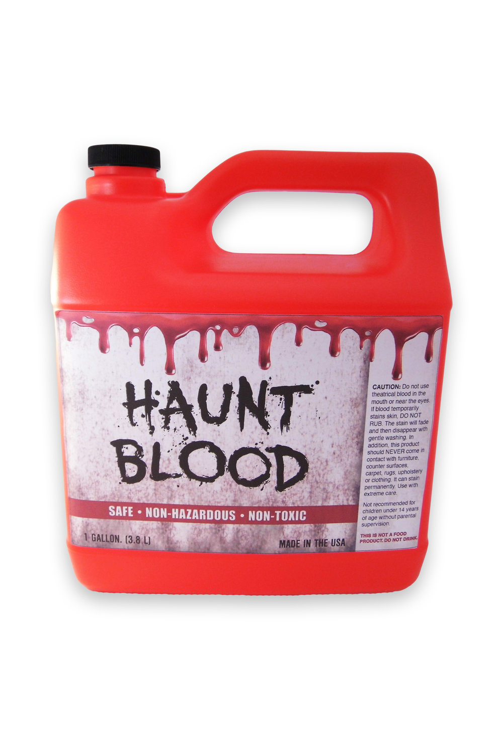 BLR-G  BLOOD  Gallon          A Realistic Touch To Your Halloween Costume               -  Made In USA