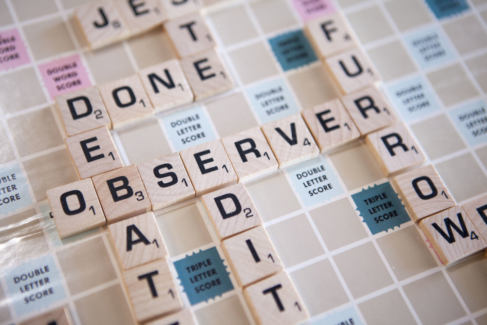 observers table_scrabble board