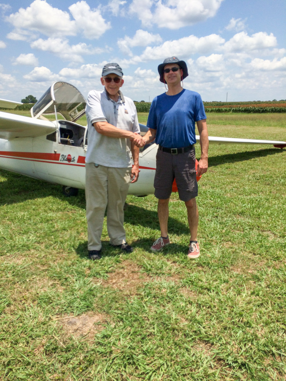 DPE, Gregg Squires (L), and Jason Bridger (R) after Jason's successful check ride.