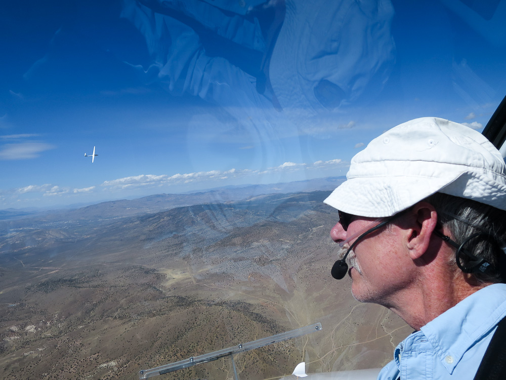 Former GHSA member Kevin Shaw in his Pipistrel Taurus self-launching glider in Minden, NV, 2018