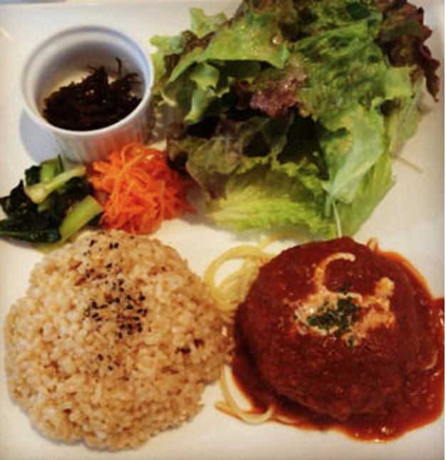 veggie patty with brown rice
