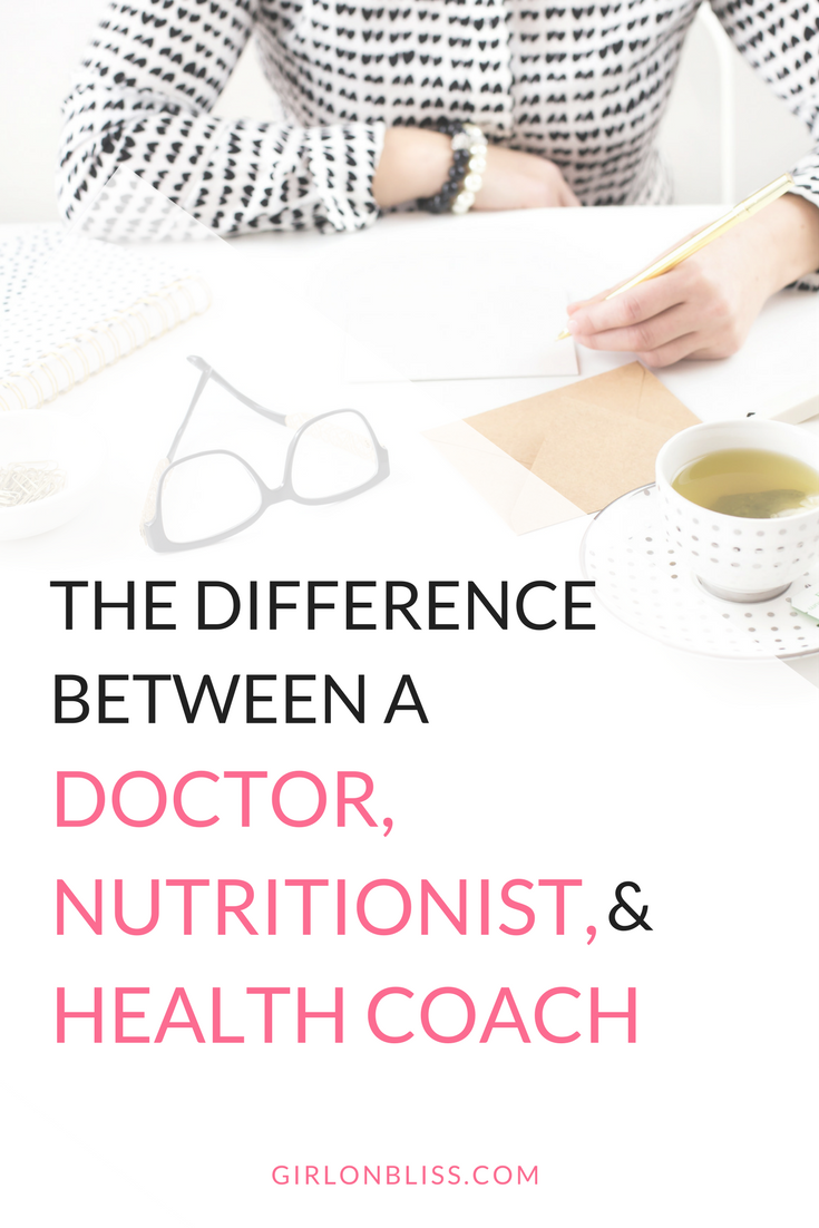 The difference between a doctor, nutritionist and health coach