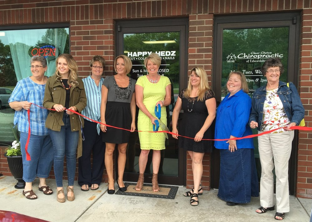 Happy Hedz Ribbon Cutting | June 2016
