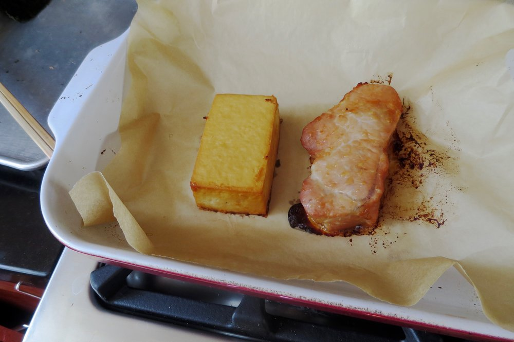 (Showing Miso Tofu on the left, Miso Pork on the right. Try  Miso Marinated Pork recipe , too!)