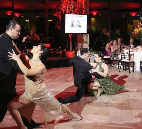Ballroom dancers perform the Tango for guests at PSO's 2017 Gala, Under the Stars in Buenos Aires