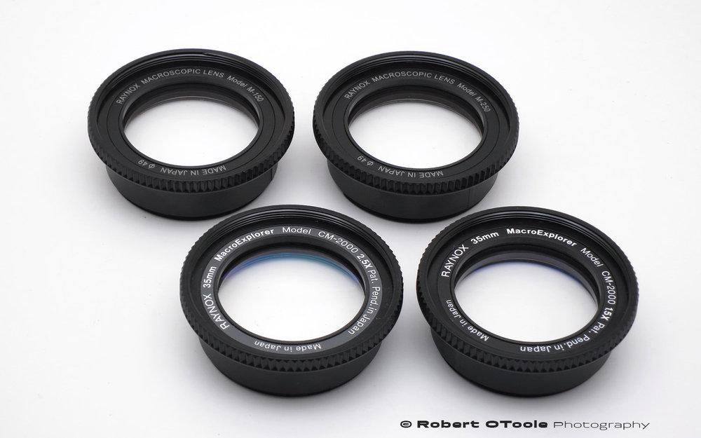 The Model M-150 (DCR-150) lenses are the same optically as the CM-200 1.5X and the Model M-250 (DCR-250) is the same as the CM-2000 2.5X. Same lenses different labels.