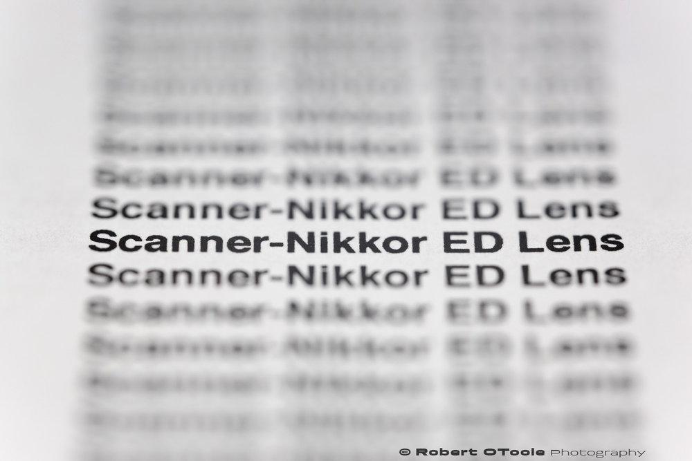 LoCA test Scanner-Nikkor ED lens