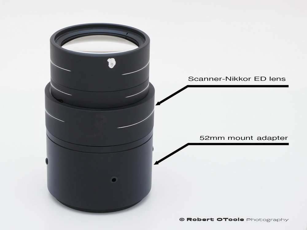 Scanner-Nikkor ED lens with 52mm mount adapter