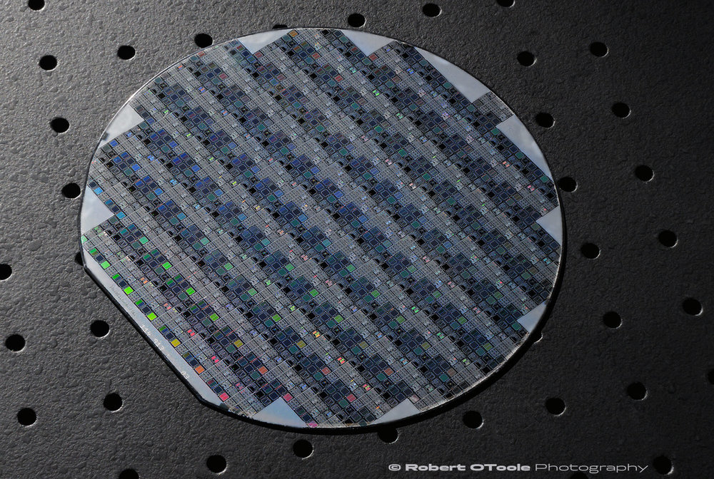 Vintage 6 inch silicon wafer test target
