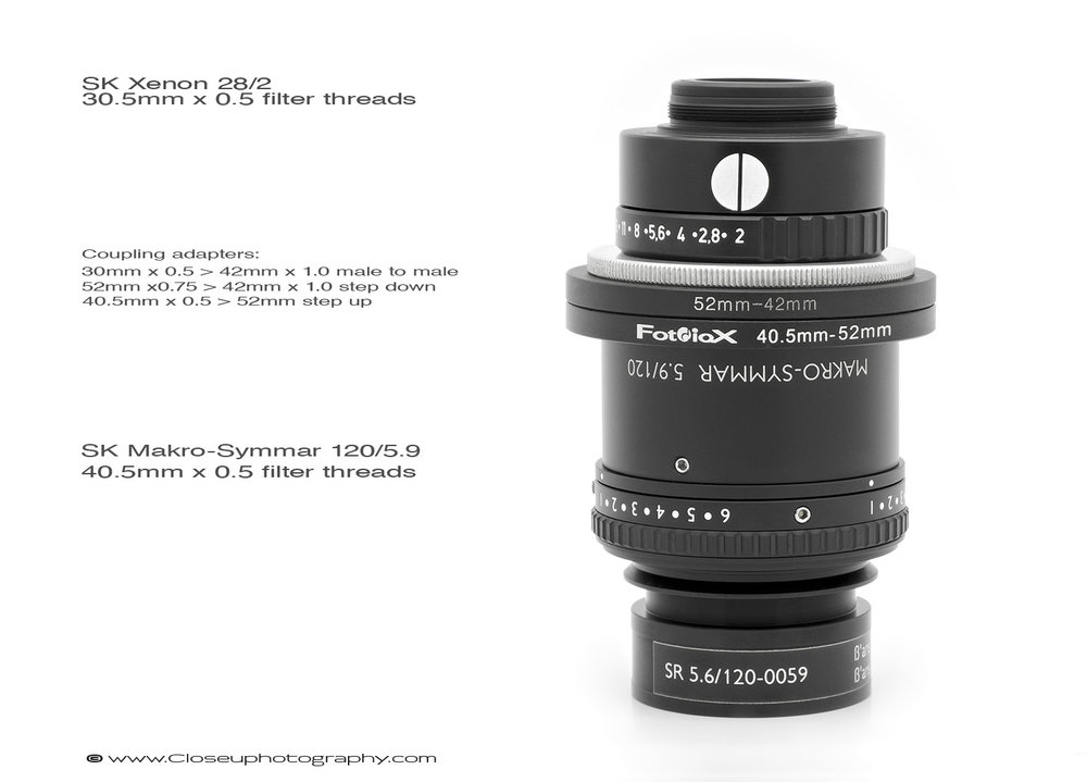 Schneider-Makro-Symmar-5.6-120-0.75x-and-Xenon-28mm-f2-Line Scan-lens-Closeuphotography-com-1500px-labeled.jpg