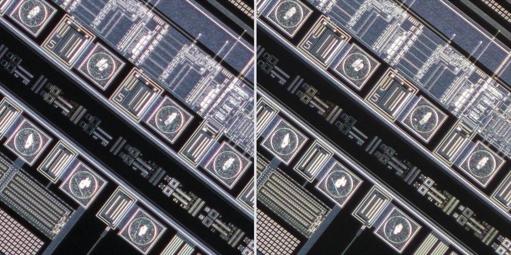 Canon MP-E 65mm f/2.8 1-5x Macro Photo lens vs Canon 20mm f3.5 MacroPhoto Lens 100% Corner Crops